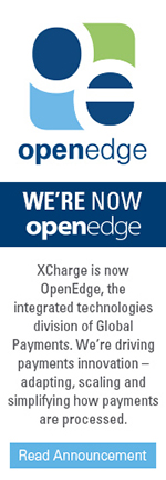 XCharge is now OpenEdge, the integrated technologies division of Global Payments. We're driving payments innovation - adapting, scaling, and simplifying how payments are processed